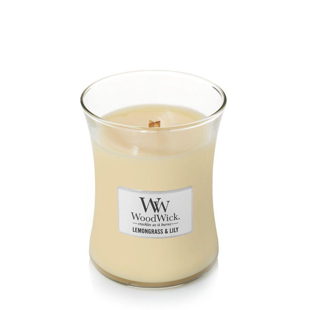 Свеча Medium Lemongrass s Lily 275 гр Wood Wick Англия — фото №1