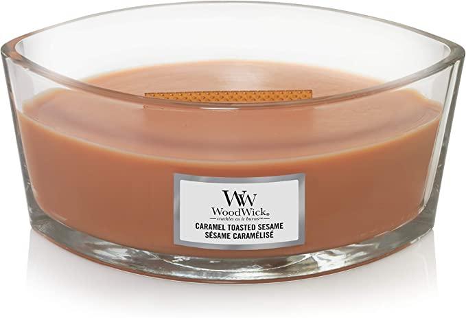Свеча Ellipse Caramel Toasted Sesame 453g Wood Wick Англия — фото №1