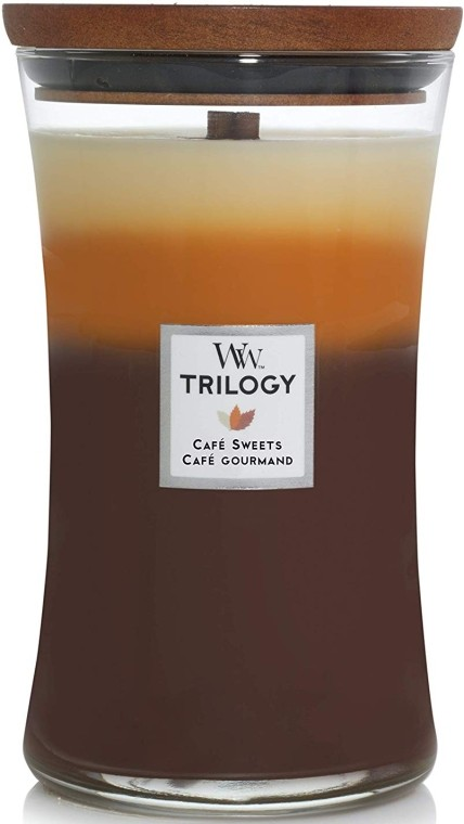 Свеча Large TRILOGY Cafe Sweets Wood Wick Англия 609 г(р) — фото №1