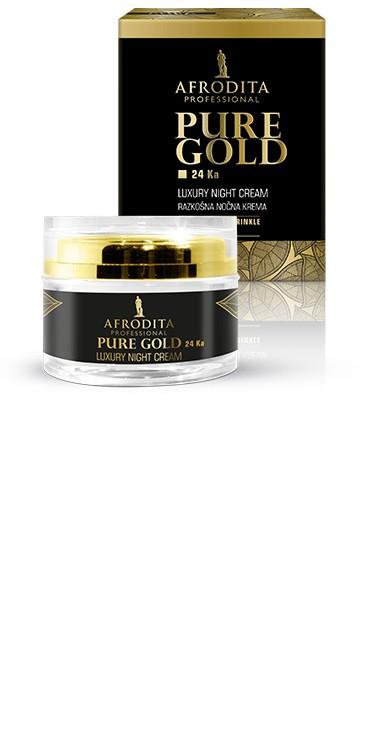 Крем ночной с частицами золота  PURE GOLD Night Cream Afrodita Словения 50 мл(р) — фото №1