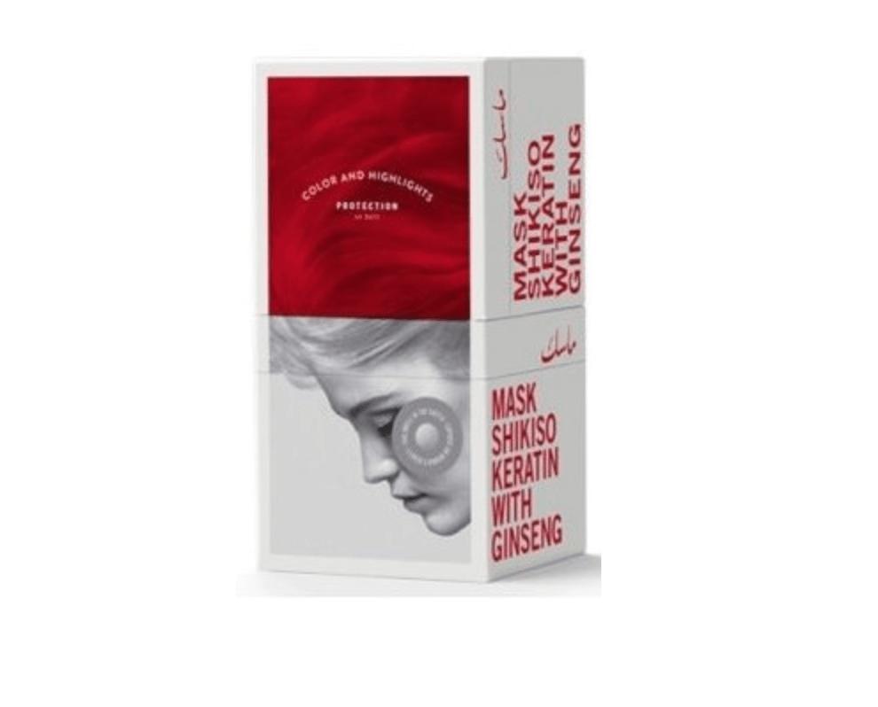 Маска с кератином и женьшенем для окрашенных волос Shikiso Keratin TRENDYHAIR Италия 500 мл(р) — фото №1