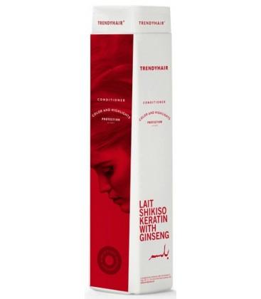 Кондиционер для окрашенных волос Lait Shikiso Keratin TRENDYHAIR Италия 300 мл(р) — фото №1