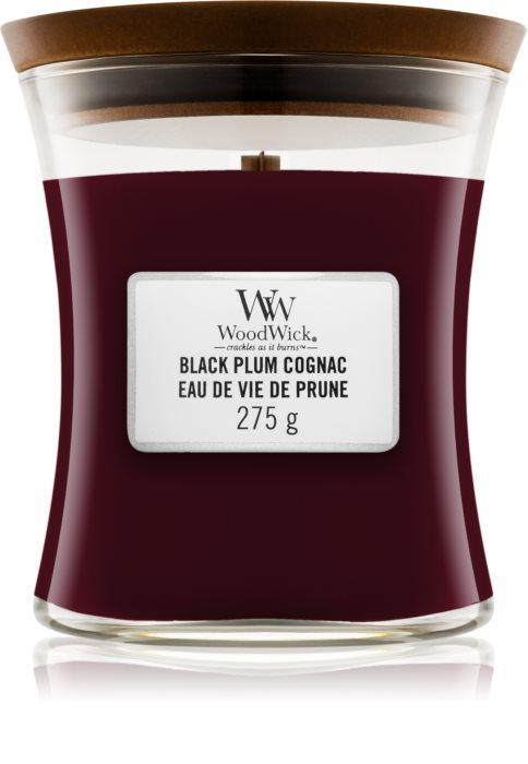 Свеча Black Plump Cognac 275g Wood Wick Англия — фото №1