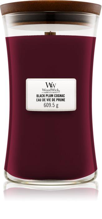 Свеча Large Black Plump Cognac Wood Wick Англия 609 гр(р) — фото №1