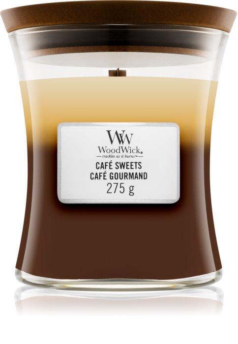 Свеча Medium TRILOGY Cafe Sweets Wood Wick Англия 275 г(р) — фото №1