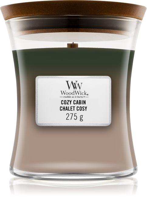 Свеча Medium Trilogy Cozy Cabin 275 гр Wood Wick Англия — фото №1