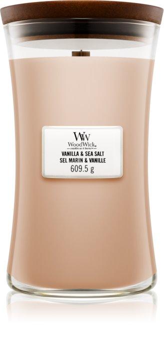 Свеча Large Vanilla Sea Salt Wood Wick Англия 609 г(р) — фото №1
