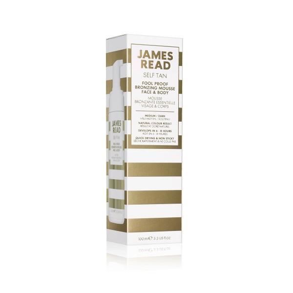 Fool Proof Bronzing Mousse Face & Body Бронзирующий мусс-автозагар для новичков для лица и тела James Read Англия 100 мл(р) — фото №2