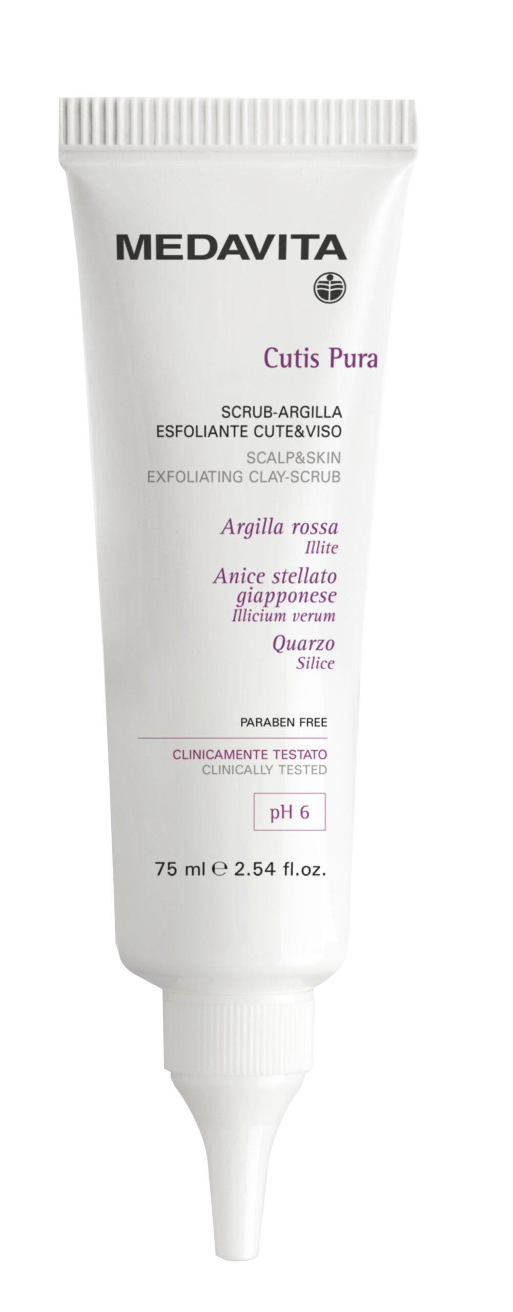 Cutis Pura Маска-сраб для интенсивного очищения кожи головы и лица Medavita Италия 75 мл(р) — фото №1