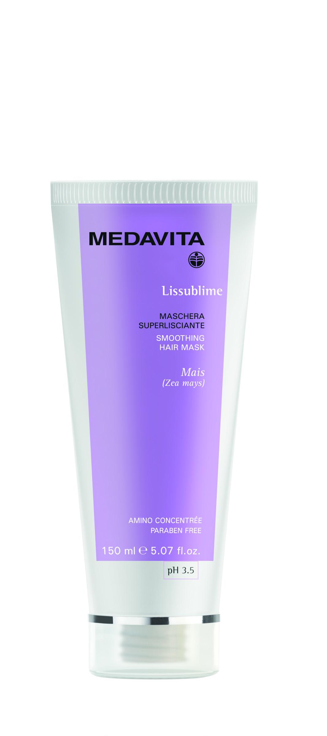 Набор шампунь суперразглаживающий  + Маска для разглаживания волос Lissublim Medavita Италия — фото №2