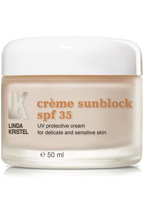 Крем Creme sunblock SPF 35 Linda Kristel Италия 50 мл(р) — фото №1