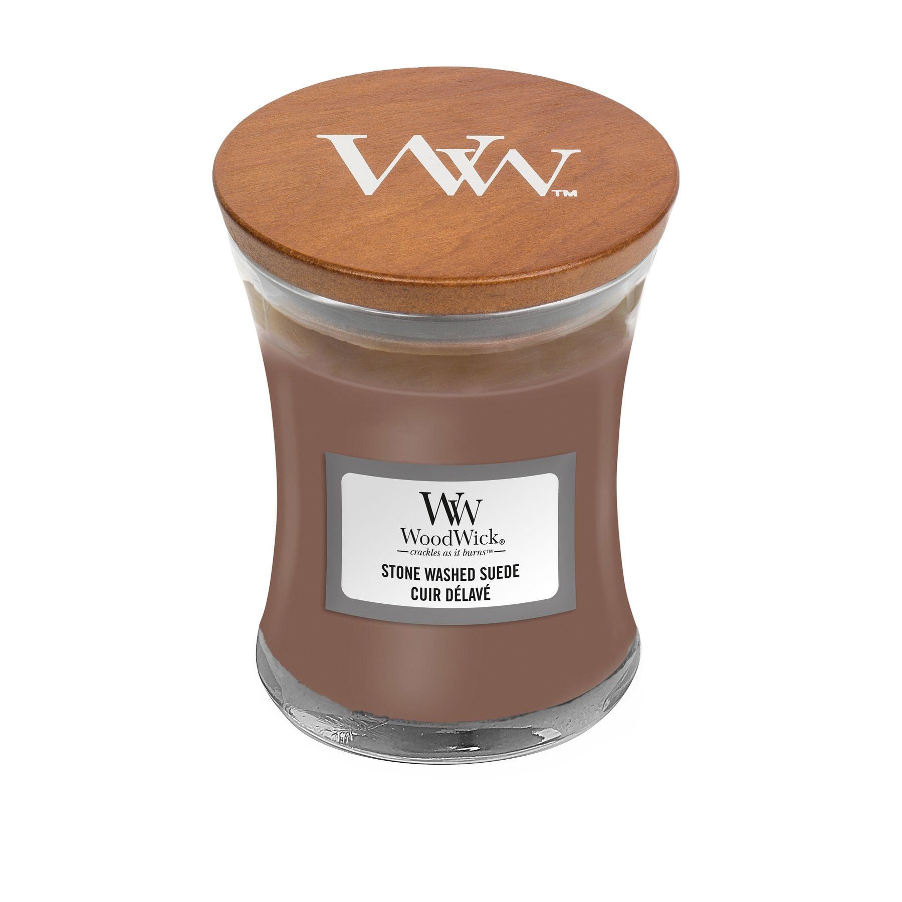 Свеча Mini Stone Washed Suede Wood Wick Англия 85 г(р) — фото №1