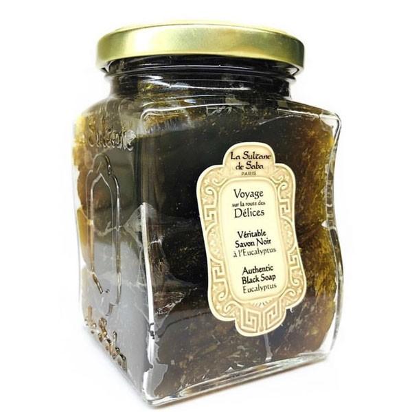 Мыло черное с эвкалиптом La Sultanede Saba Франция 300 мл(р) — фото №1