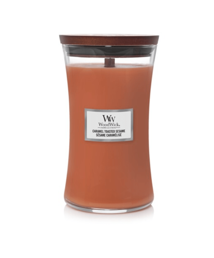 Свеча Large Caramel Toasted Sesame Wood Wick Англия 609 г(р) — фото №1