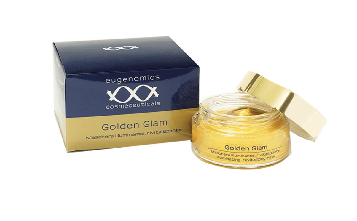 Маска для  осветления и питания кожи лица Golden Glam Illuminating Revitalizing Mask Eugenomics Италия 100 мл(р) — фото №1