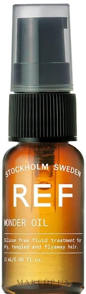 Масло для здоровых шелковистых волос Wonder Oil REF Швеция 15 мл(р) — фото №1
