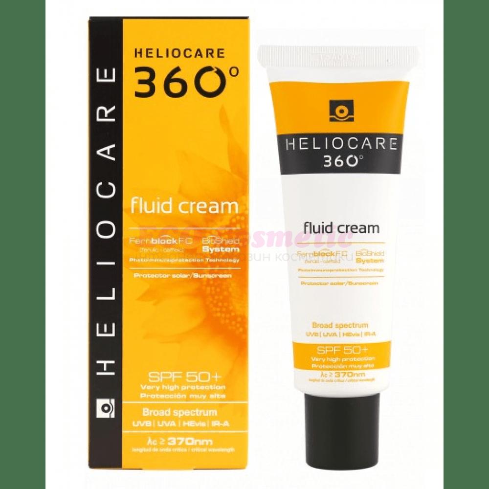 Солнцезащитный Крем-Флюид с SPF 50+ 360 Fluid Cream SPF 50+ Heliocare Испания 50 мл(р) — фото №1