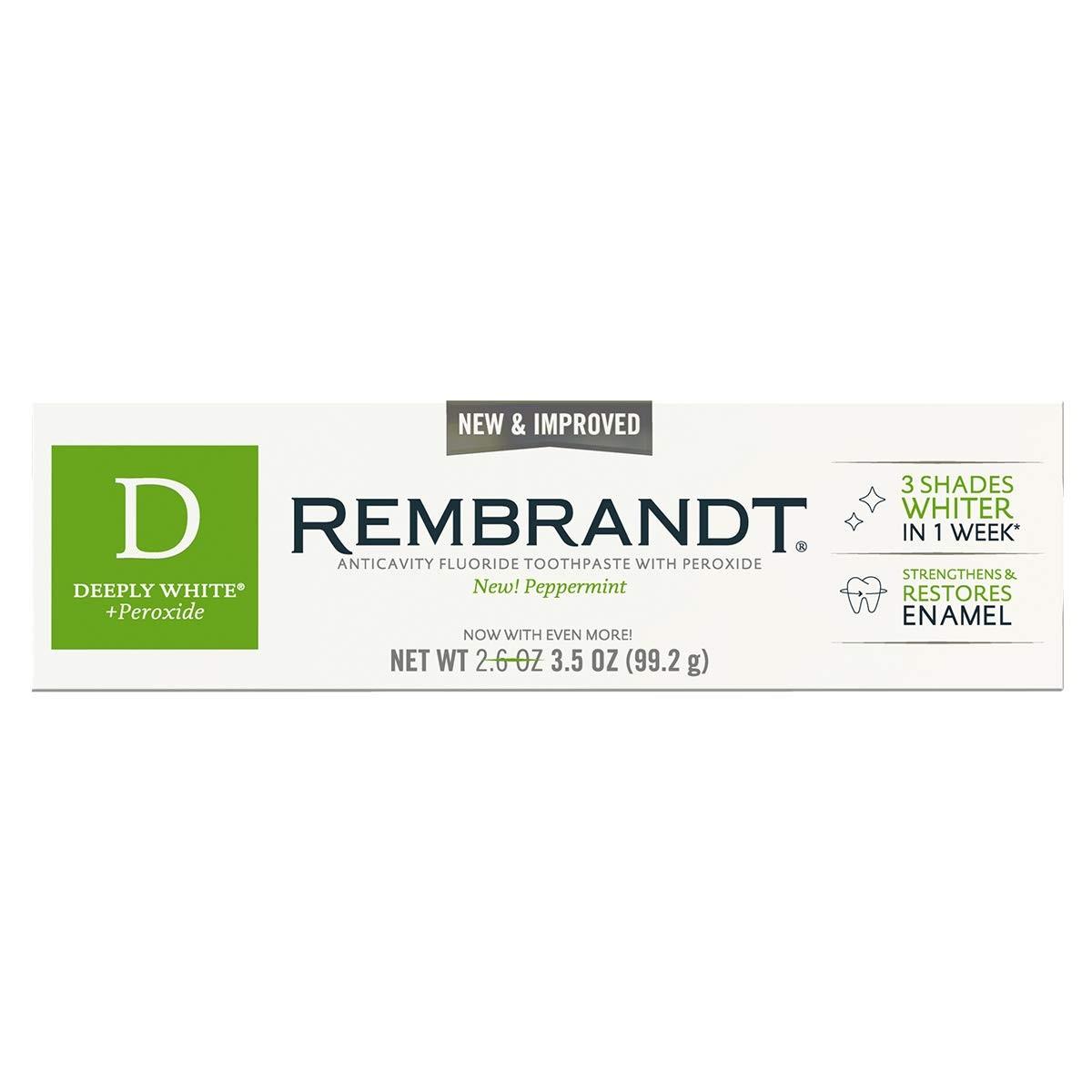 Зубная паста Deeply White Peppermint Rembrandt USA 1 шт(р) — фото №1