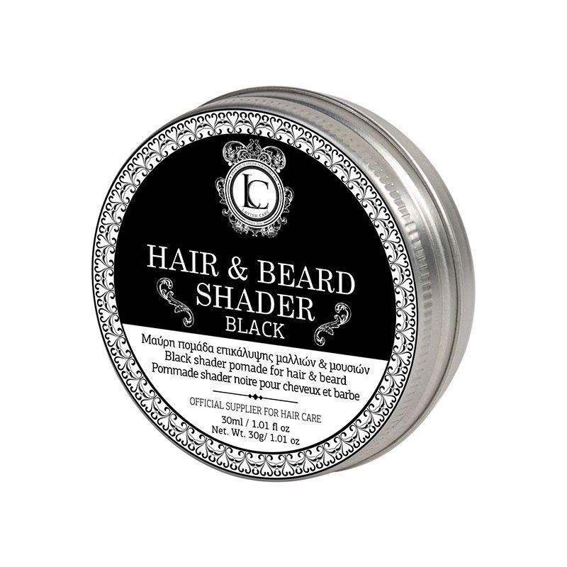 Черная помада для бороды и волос со стайлингом средней фиксации Hair s Beard Shader Black Lavish Care Греция — фото №1
