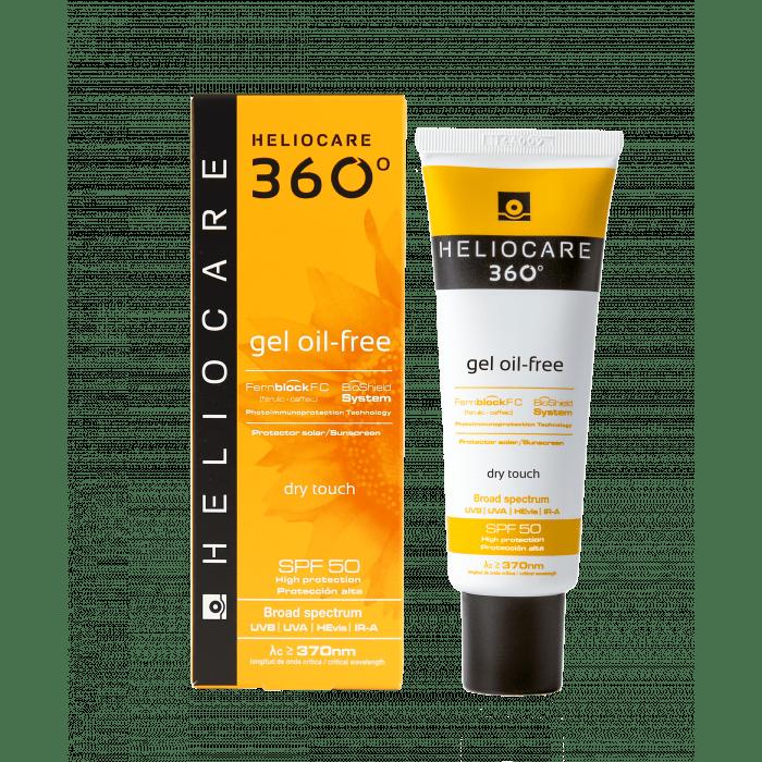 Солнцезащитный Гель на Водной Основе с SPF 50 360 Gel Oil-Free Dry Touch Sunscreen SPF 50 Heliocare Испания 50 мл(р) — фото №1