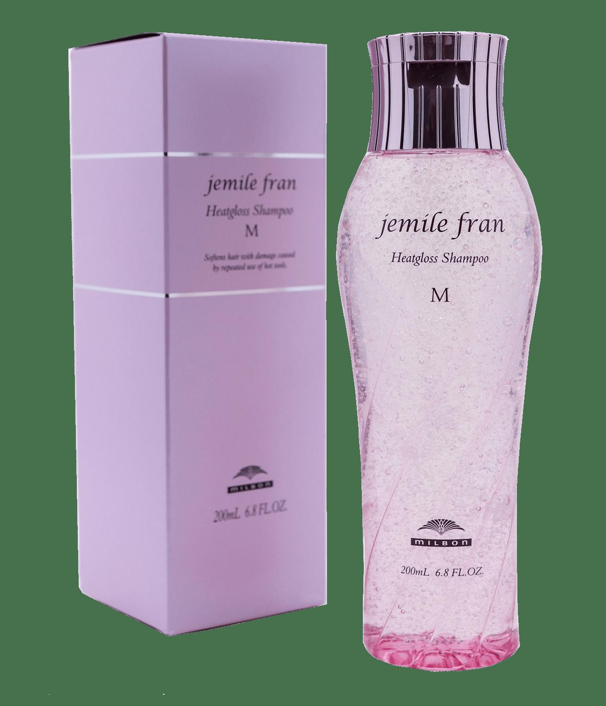 Шампунь для восстанавления и объема Heatgloss Shampoo Jemile Fran M Milbon Япония 200 мл(р) — фото №1