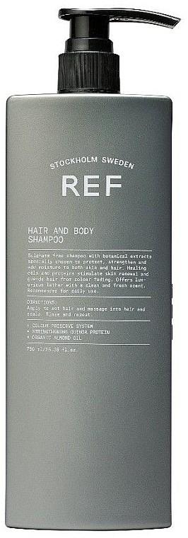 Шапунь мужской Hair and Body Shampoo REF Швеция 750 мл(р) — фото №1