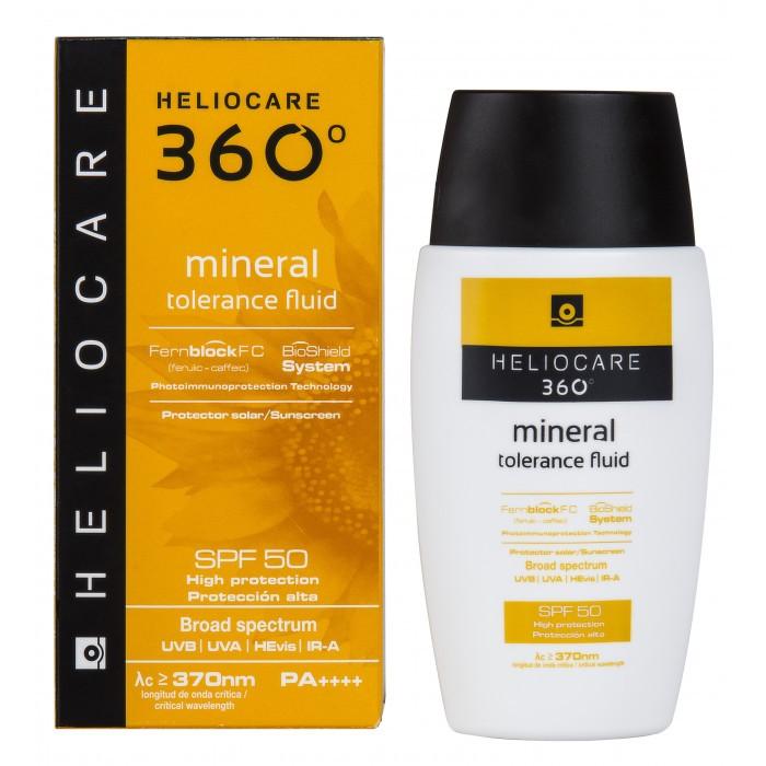 Солнцезащитный Минеральный Крем-Флюид с SPF 50 360 Mineral Tolerance Fluid с SPF 50 Heliocare Испания 50 мл(р) — фото №1