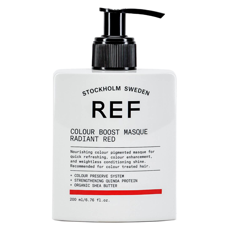 Маска для усиления цвета волос Colour Boost Masque Radiant Red REF Швеция 200 мл(р) — фото №1