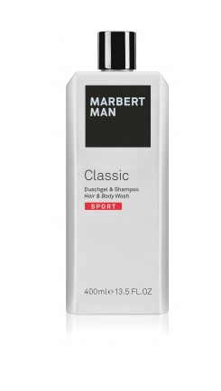 Средство по уходу за волосами и телом Man Classic Sport Hair & Body Wash Marbert Германия 400 мл(р) — фото №1