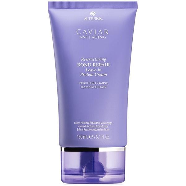 Несмываемый протеиновый крем Caviar Anti-Aging Restructuring Bond Repair Leave-in Protein Cream Alterna USA 150 мл(р) — фото №1