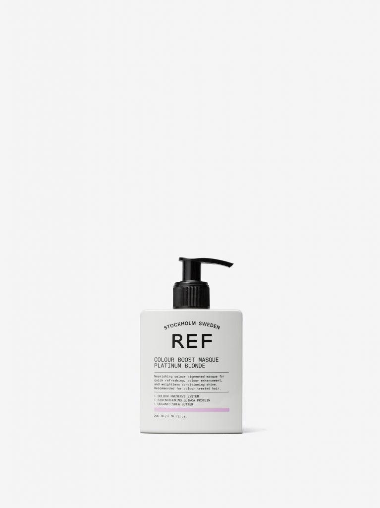Маска для усиления цвета волос Colour Boost Masque Platinum Blonde REF Швеция 200 мл(р) — фото №1