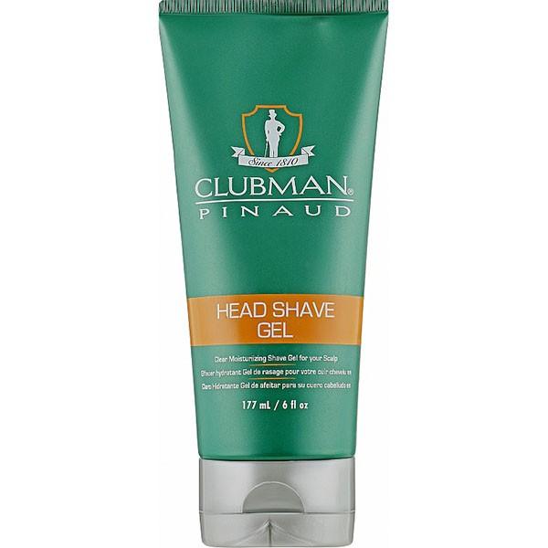 Увлажняющий гель для бритья Pinaud Head Shave Gel Clubman  USA 177 мл(р) — фото №1