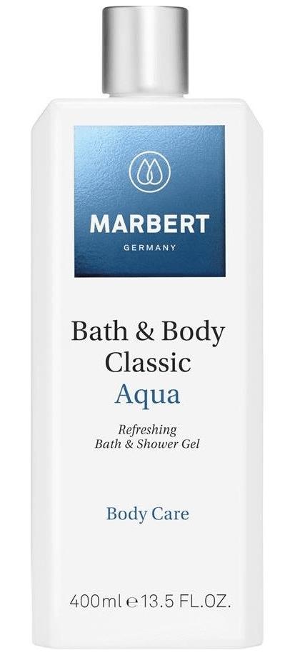 Гель для душа Bath & Body Classic Aqua Bath & Shower Gel Marbert Германия 400 мл(р) — фото №1