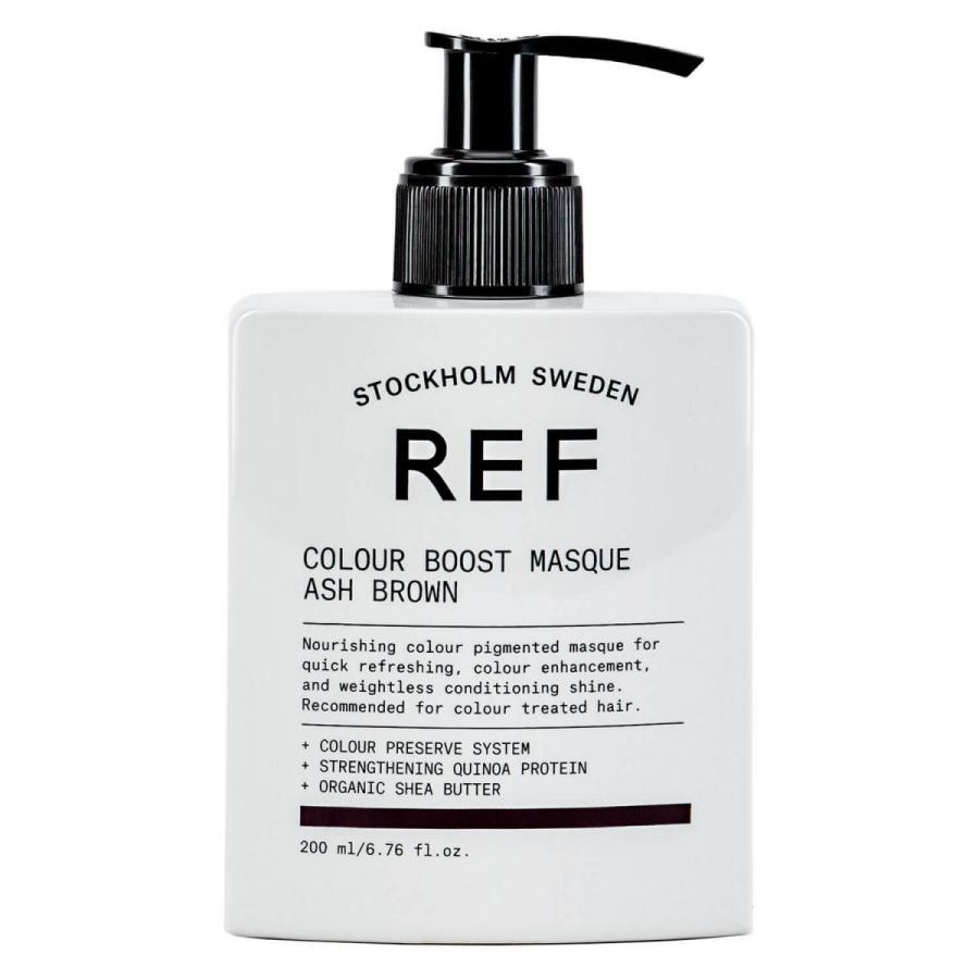 Маска для усиления цвета волос Colour Boost Masque Ash Brown REF Швеция 200 мл(р) — фото №1
