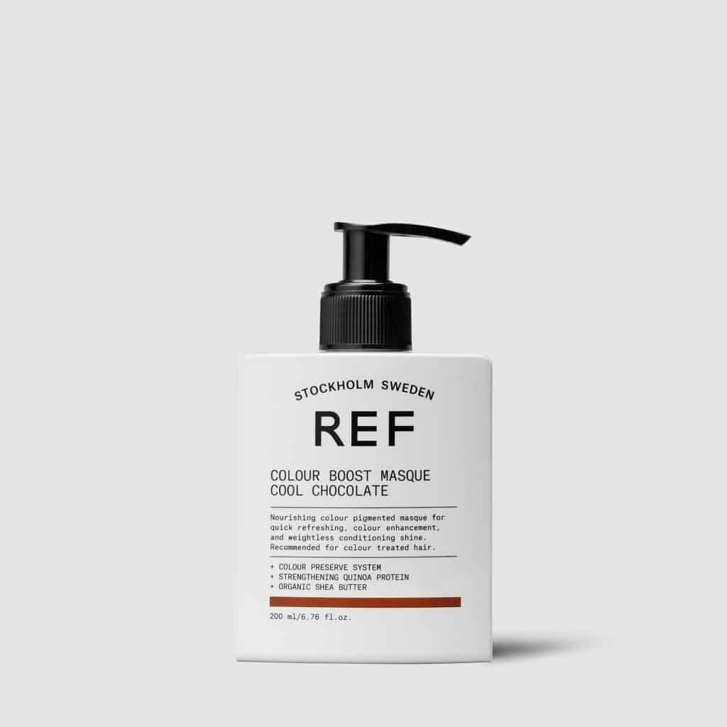 Маска для усиления цвета волос Colour Boost Masque Cool Chocolate REF Швеция 200 мл(р) — фото №1
