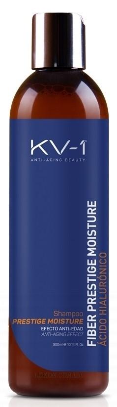 Шампунь с экстрактом меда, пантенолом и гиалуроновой кислотой Fiber Prestige Moisture Shampoo KV-1 Испания 300 мл(р) — фото №1