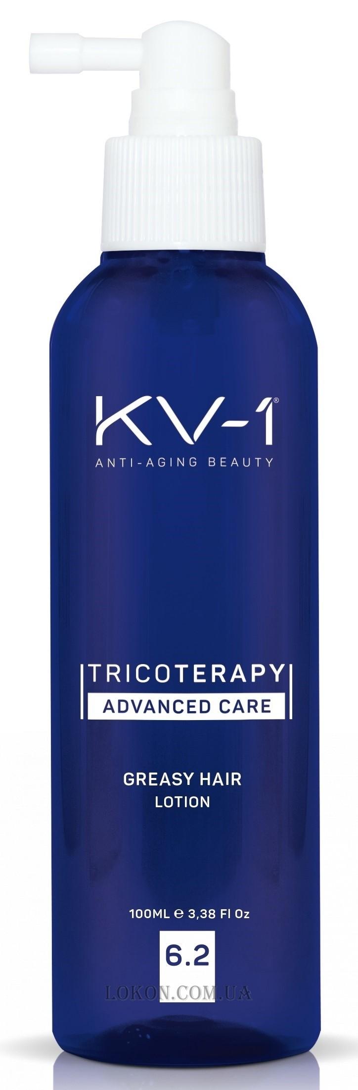 Лосьон против жирности кожи головы 6.2 Tricoterapy Greasy Hair Lotion KV-1 Испания 100 мл(р) — фото №1