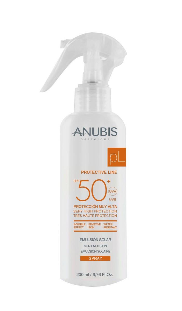 Солнцезащитный спрей для лица и тела Sun Emulsion Spray SPF 50+ ANUBIS Испания 200 мл(р) — фото №1