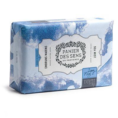 """Экстра-нежное мыло масло ши """"Морской Воздух"""" Sea Mist Panier Des Sens Франция 100 г(р) — фото №1"""