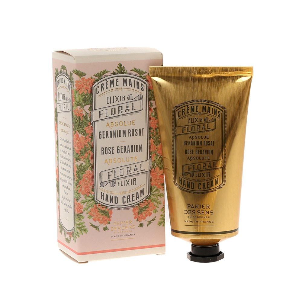 """Крем для рук """"Герань"""" Rose Geranium Hand Cream Panier Des Sens Франция 75 мл(р) — фото №1"""