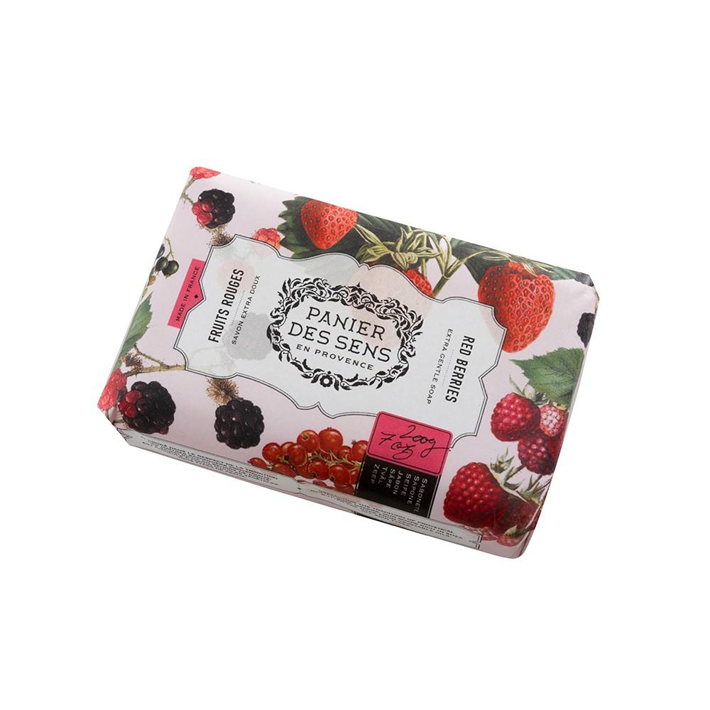 """Экстра-нежное мыло масло ши """"Красные Ягоды"""" Red Berries Panier Des Sens Франция 100 г(р) — фото №1"""