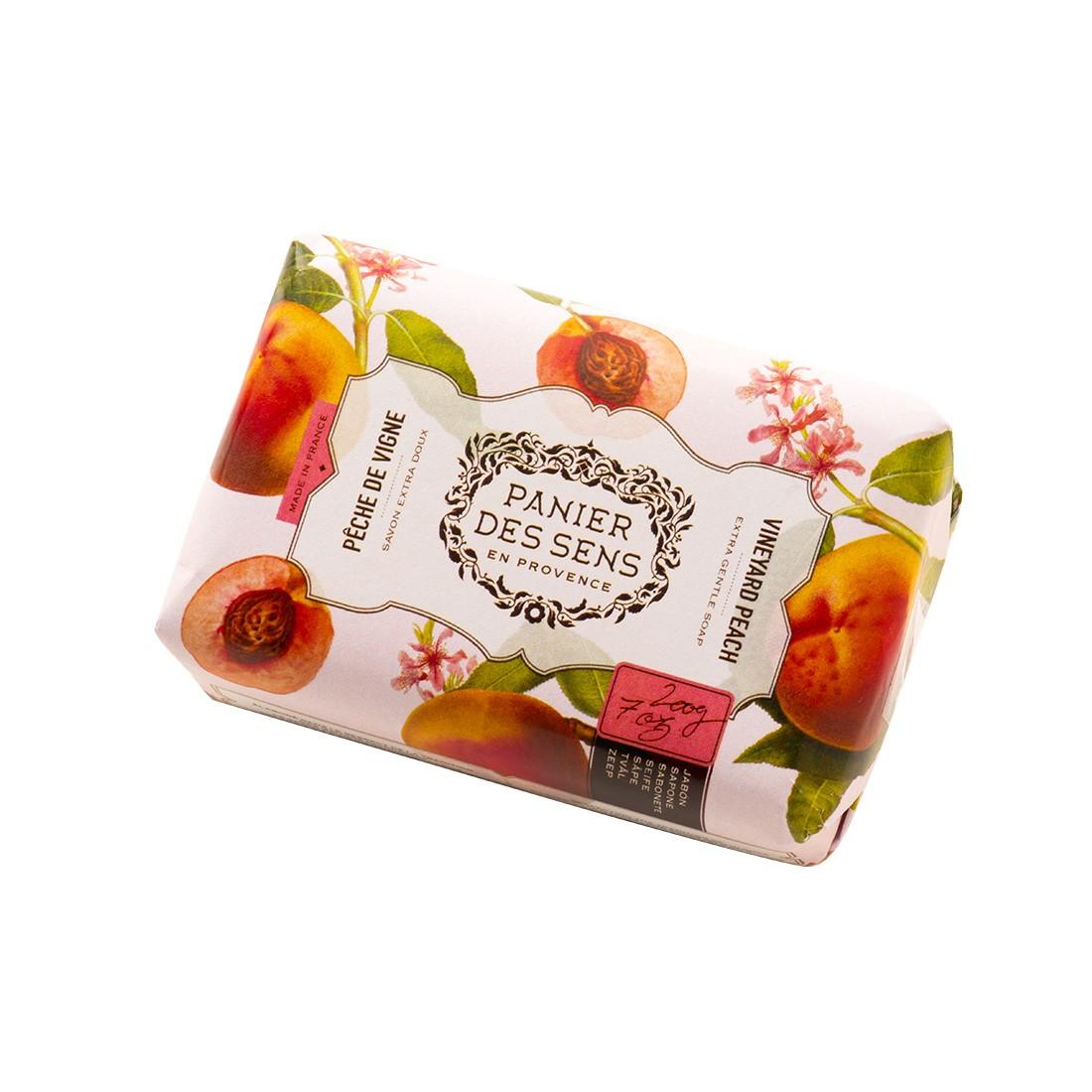 """Экстра-нежное мыло масло ши """"Персик"""" Vineyard Peach Panier Des Sens Франция 100 г(р) — фото №1"""